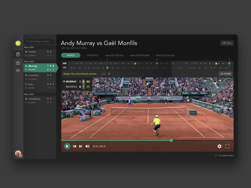 Tennis App UI